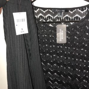 NWT F21 turtle neck and lace long sleeve